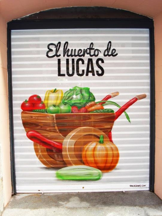 Graffiti El huerto de Lucas. Grafitero Madrid