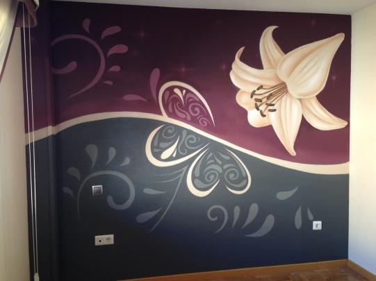 Graffiti habitación. Graffiti profesional