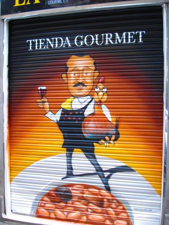 Restaurante la hoja. Grafitero Madrid