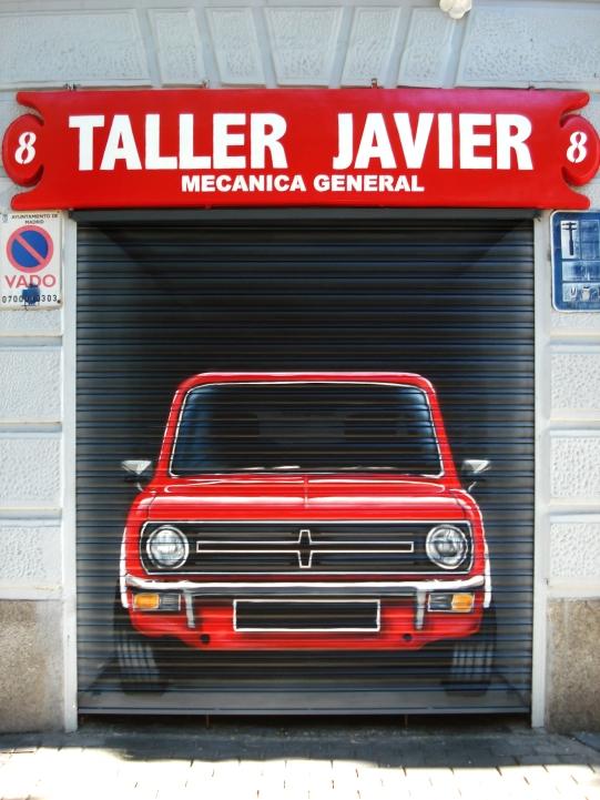 Coche graffiti Taller. Graffitero profesional.