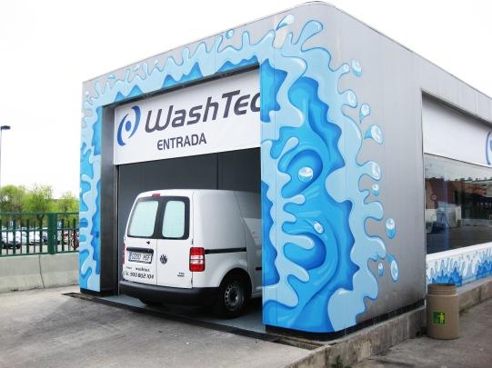 Túnel de lavado Graffiti. Grafitero Madrid