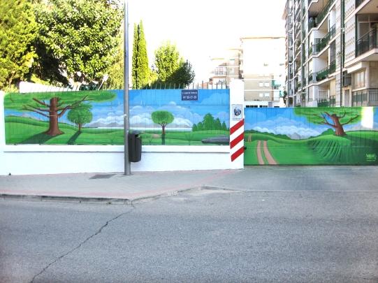 Decoración comunidad graffiti. Graffitero Madrid