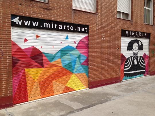 Graffiti cierres Mirarte. Graffiti Madrid