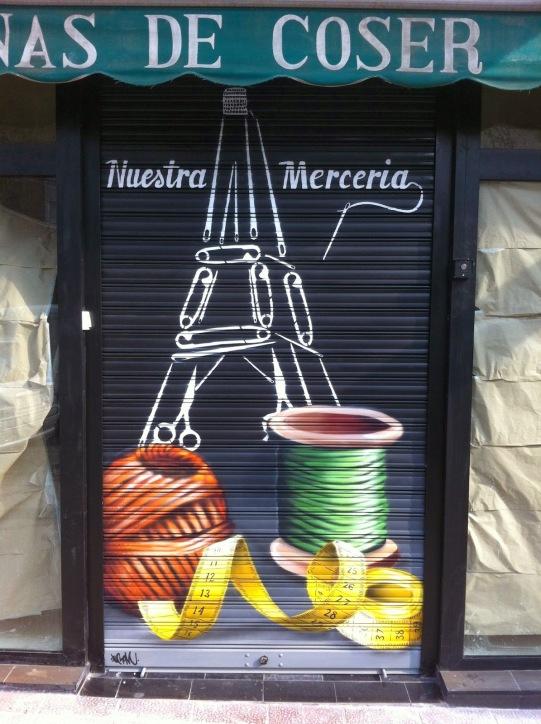 Merceria graffiti. graffitero profesional.