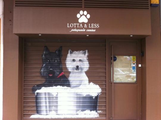 Peluquería canina. graffitero profesional.