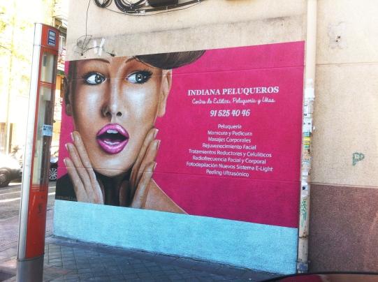 Grafiti peluquería. Graffitero Madrid