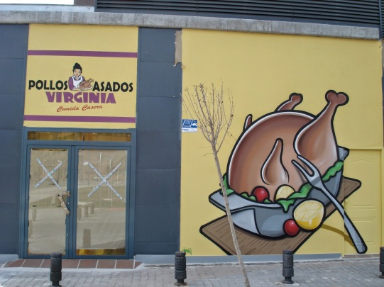 Pollos Asados Virginia. Graffitero Madrid
