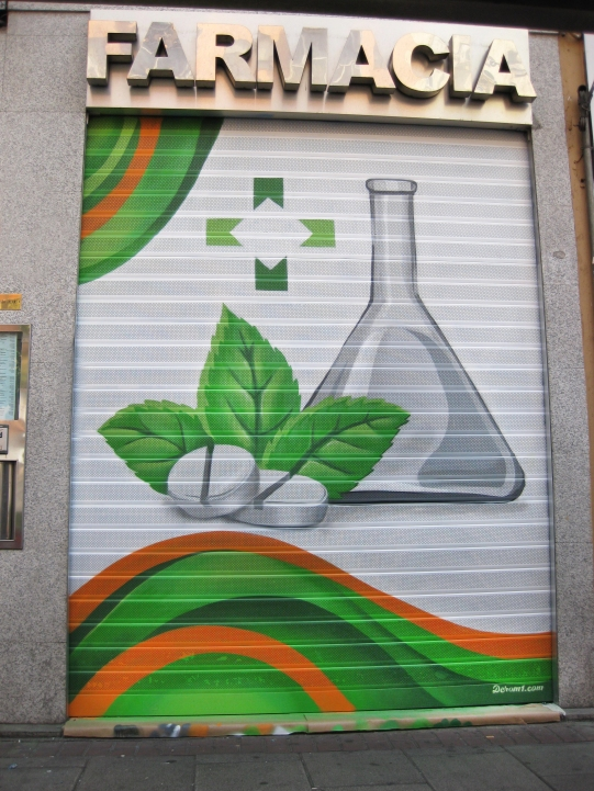 Decoracion farmacia. Graffiti madrid