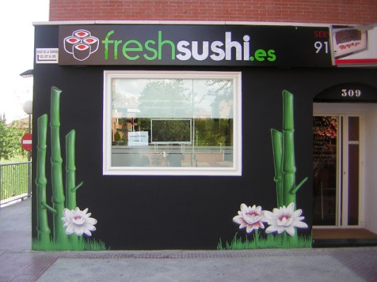 Freshsushi graffiti Madrid