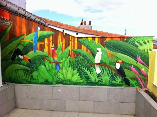 Terraza particular. Graffiti Madrid