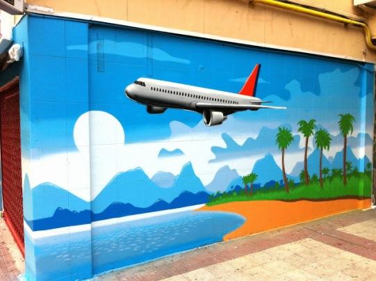Agencia de viajes. Graffitero Madrid