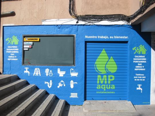 Mp Aguas graffiti. Graffitero Madrid