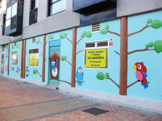 Escuela infantil Cucos Home. Graffiti Madrid