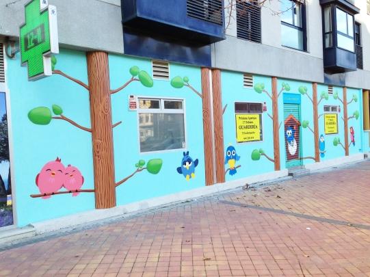 Escuela infantil Cucos. Graffiti Madrid