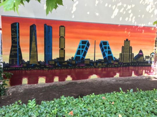 Skyline graffiti